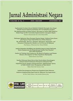 View Vol. 24 No. 2 (2018): Jurnal Administrasi Negara