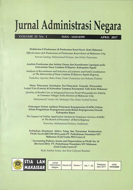 View Vol. 23 No. 1 (2017): Jurnal Administrasi Negara